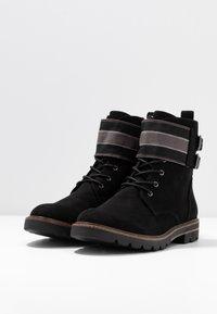 Marco Tozzi - Šněrovací kotníkové boty - black - 4