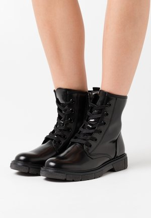 BOOTS - Lace-up ankle boots - black brush