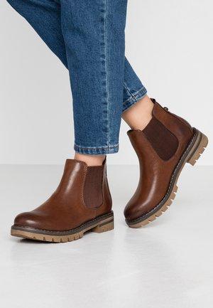 Ankle boots - cognac antic