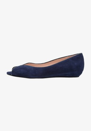 Peeptoe ballet pumps - dark blue