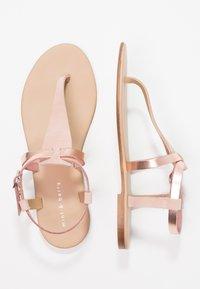 mint&berry - T-bar sandals - rose gold - 3
