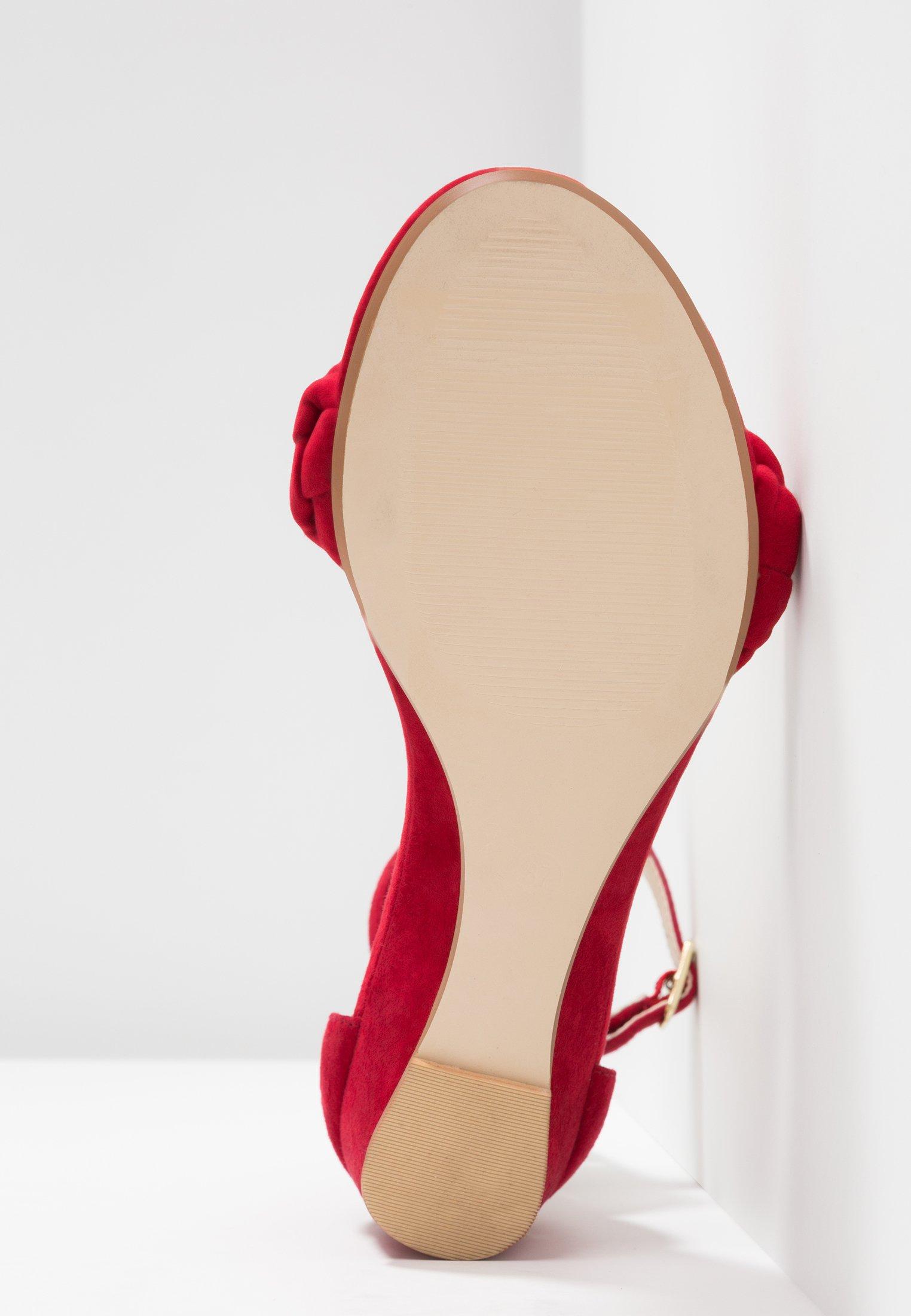 mint&berry Sandaletter med kilklack - red