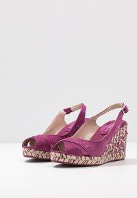 mint&berry - Sandaler med høye hæler - dark purple - 4