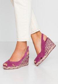 mint&berry - Sandaler med høye hæler - dark purple - 0