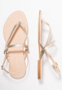 mint&berry - T-bar sandals - gold - 3