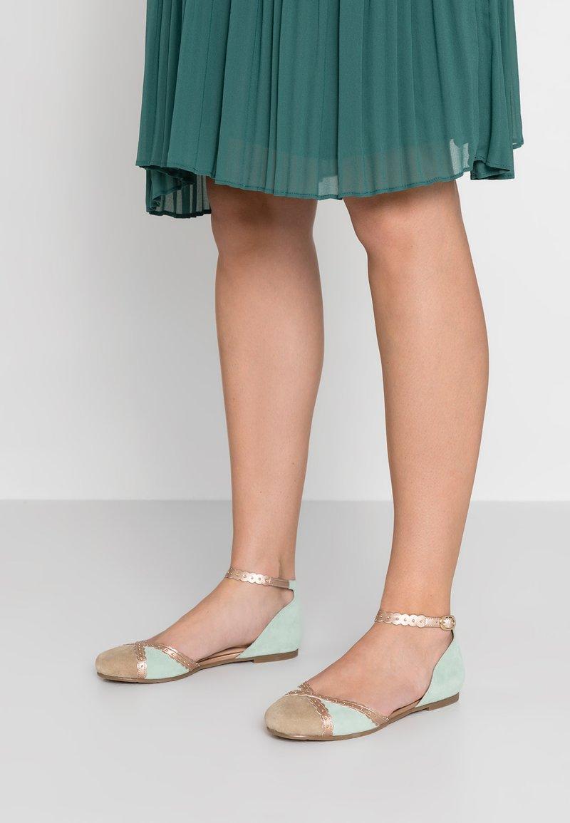 mint&berry - Ankle strap ballet pumps - mint