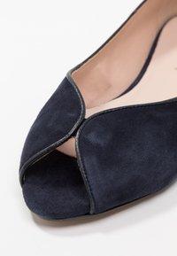 mint&berry - Peeptoe ballet pumps - dark blue - 2