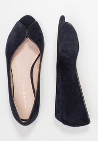 mint&berry - Peeptoe ballet pumps - dark blue - 3