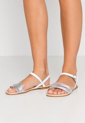 Sandals - white/ silver