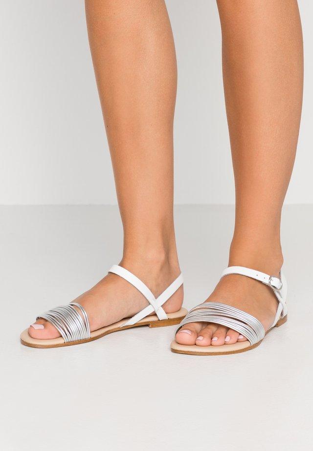 Sandalen - white/ silver