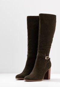 mint&berry - High heeled boots - khaki - 4