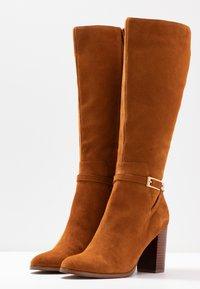 mint&berry - High heeled boots - cognac - 4