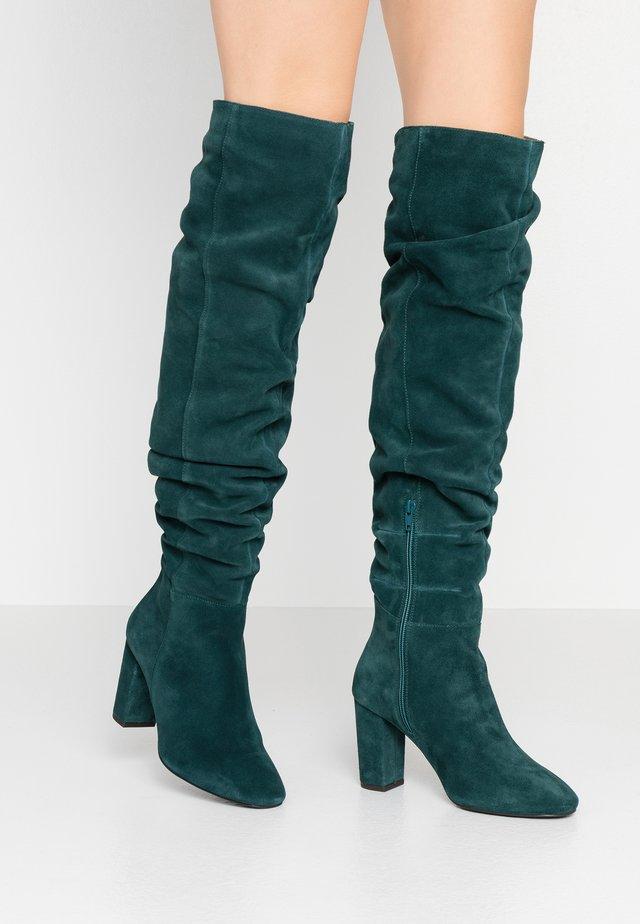 High Heel Stiefel - dark green