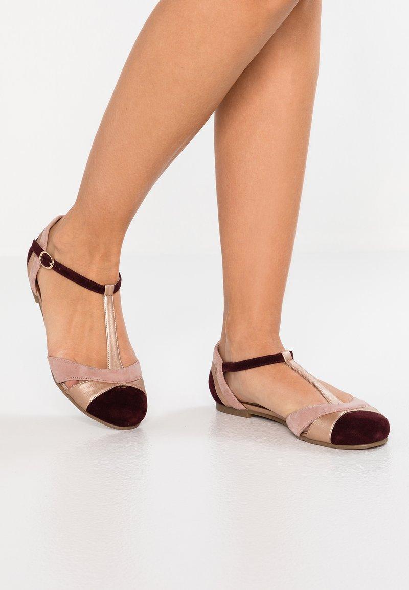 mint&berry - Ankle strap ballet pumps - nude