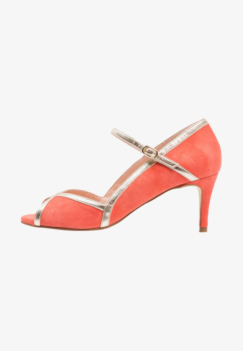 mint&berry - Peeptoes - coral/gold