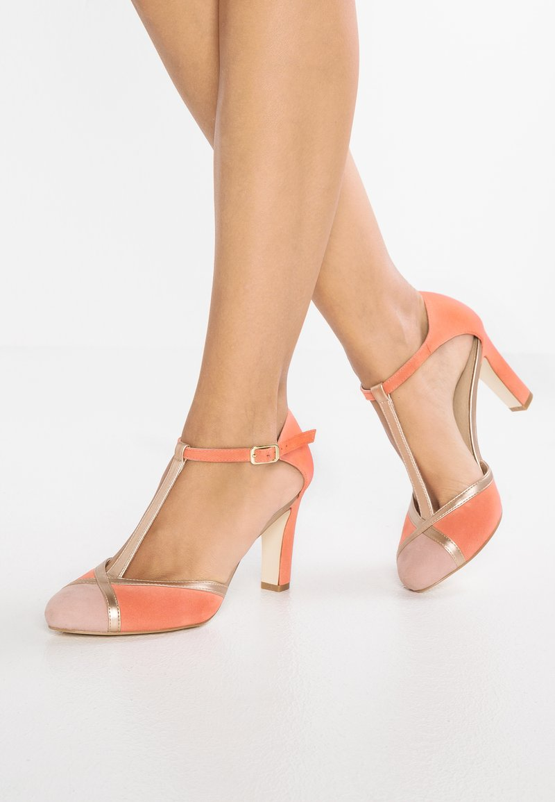 mint&berry - High heels - coral/gold