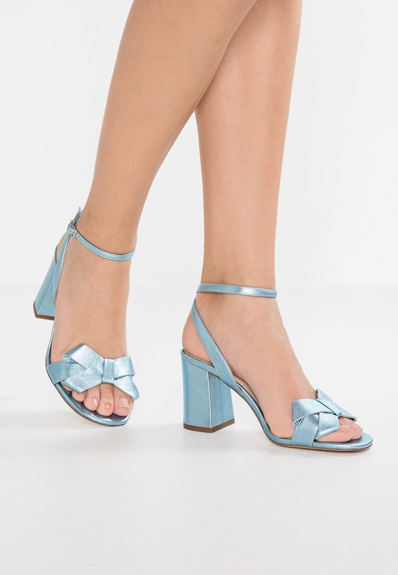 mint&berry - Riemensandalette - blue metallic