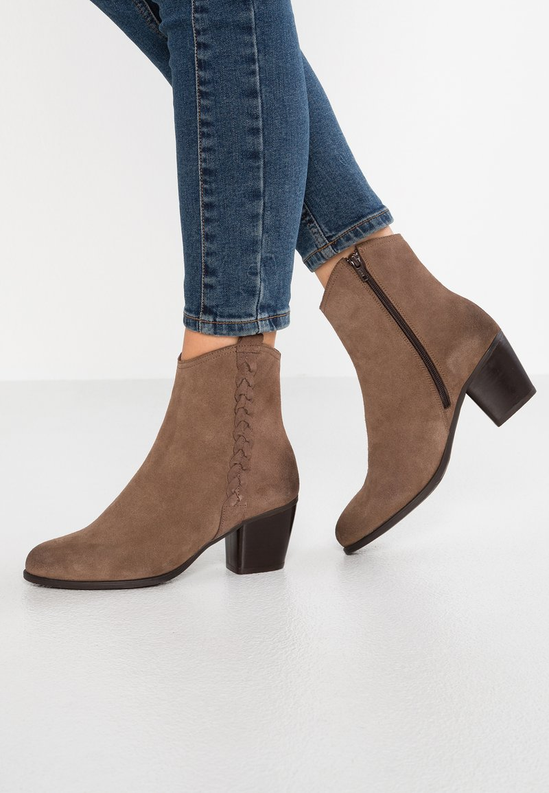 mint&berry - Cowboy/biker ankle boot - taupe