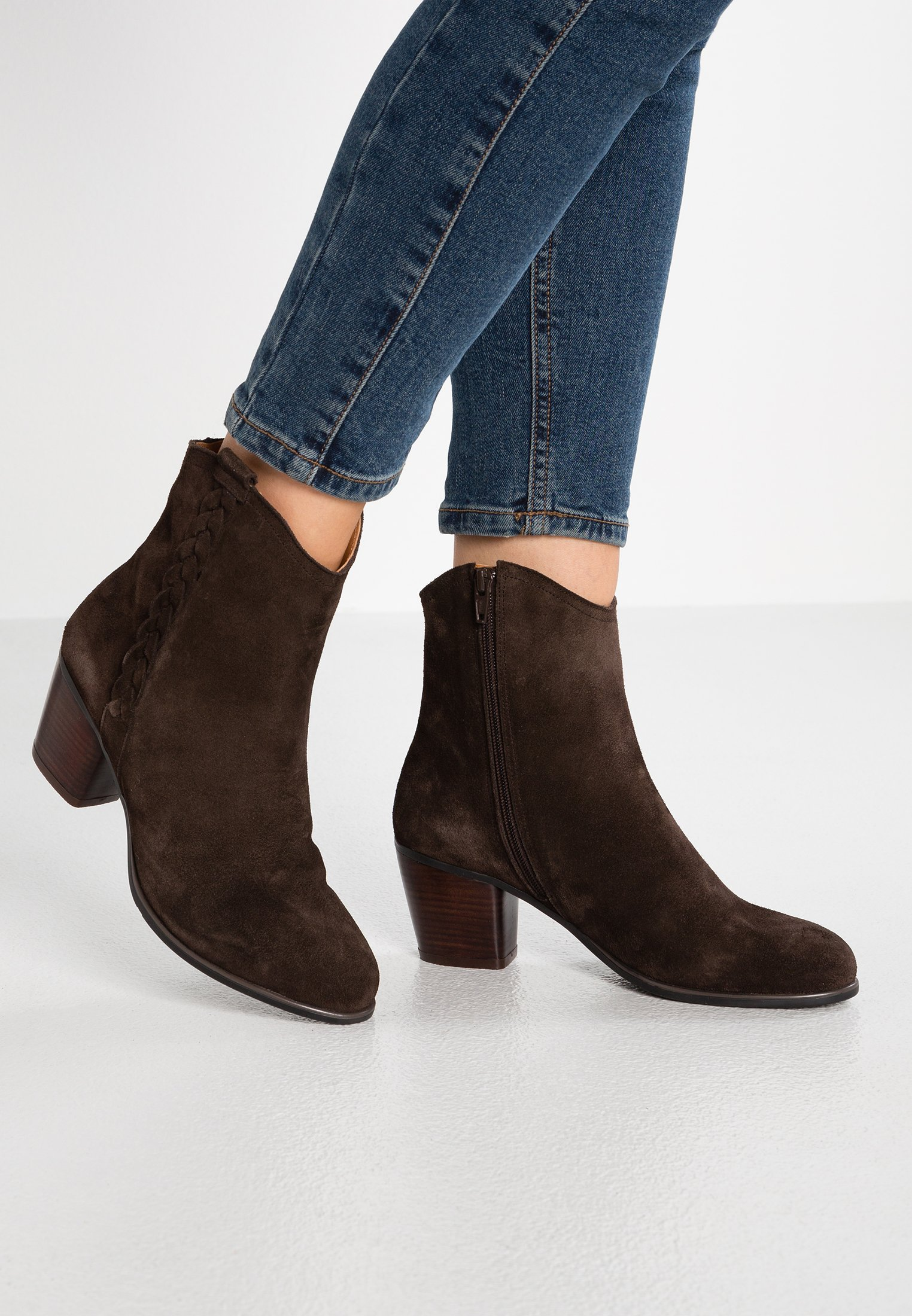 mint&berry Cowboy- / Bikerstövletter - dark brown