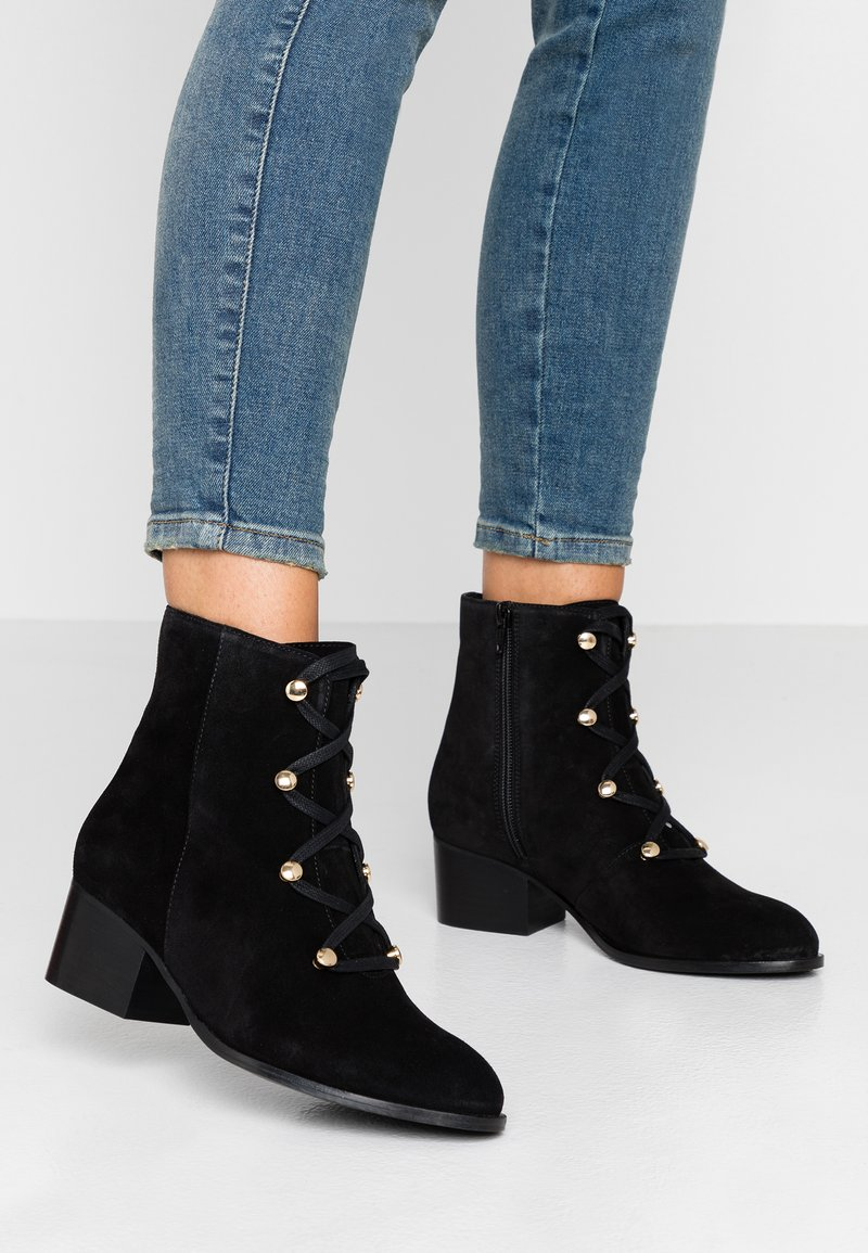 mint&berry - Lace-up ankle boots - black