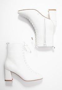 mint&berry - Šněrovací kotníkové boty - white - 3