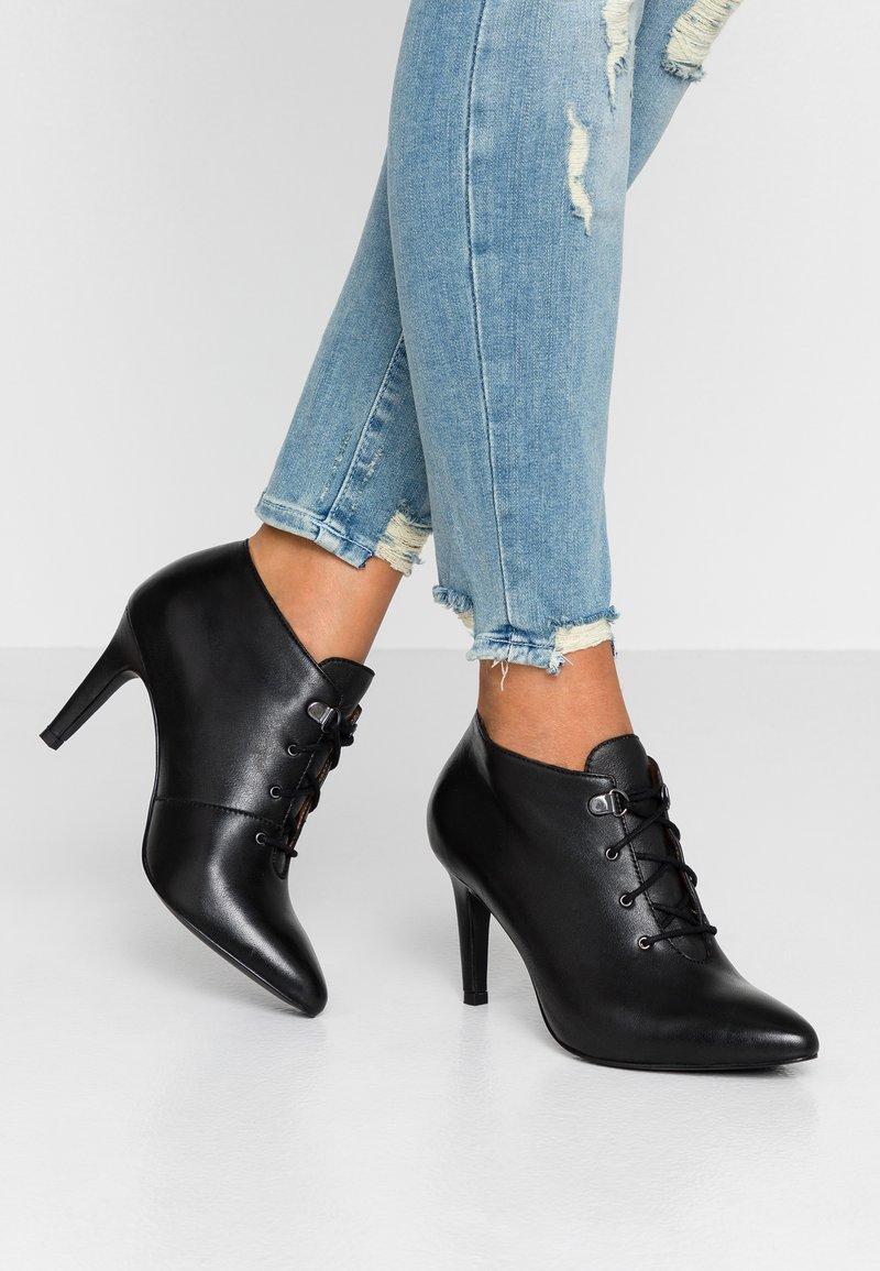 mint&berry - Kotníková obuv na vysokém podpatku - black