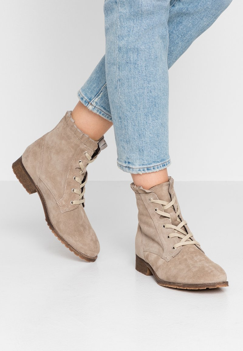 mint&berry - Lace-up ankle boots - taupe