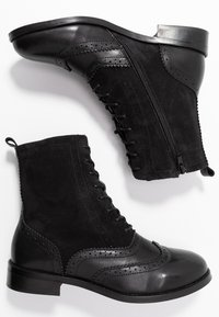 mint&berry - Lace-up ankle boots - black - 3