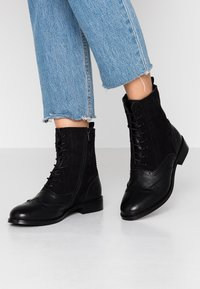 mint&berry - Lace-up ankle boots - black - 0