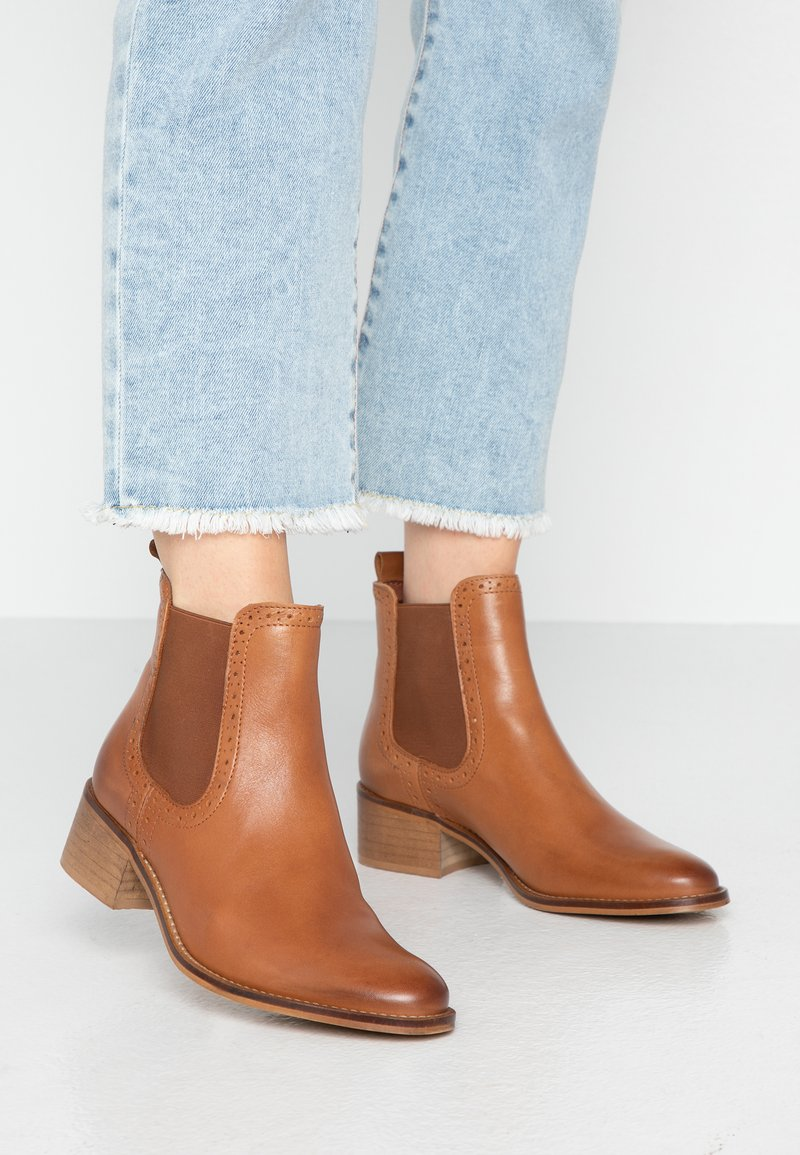mint&berry - Ankle boots - cognac