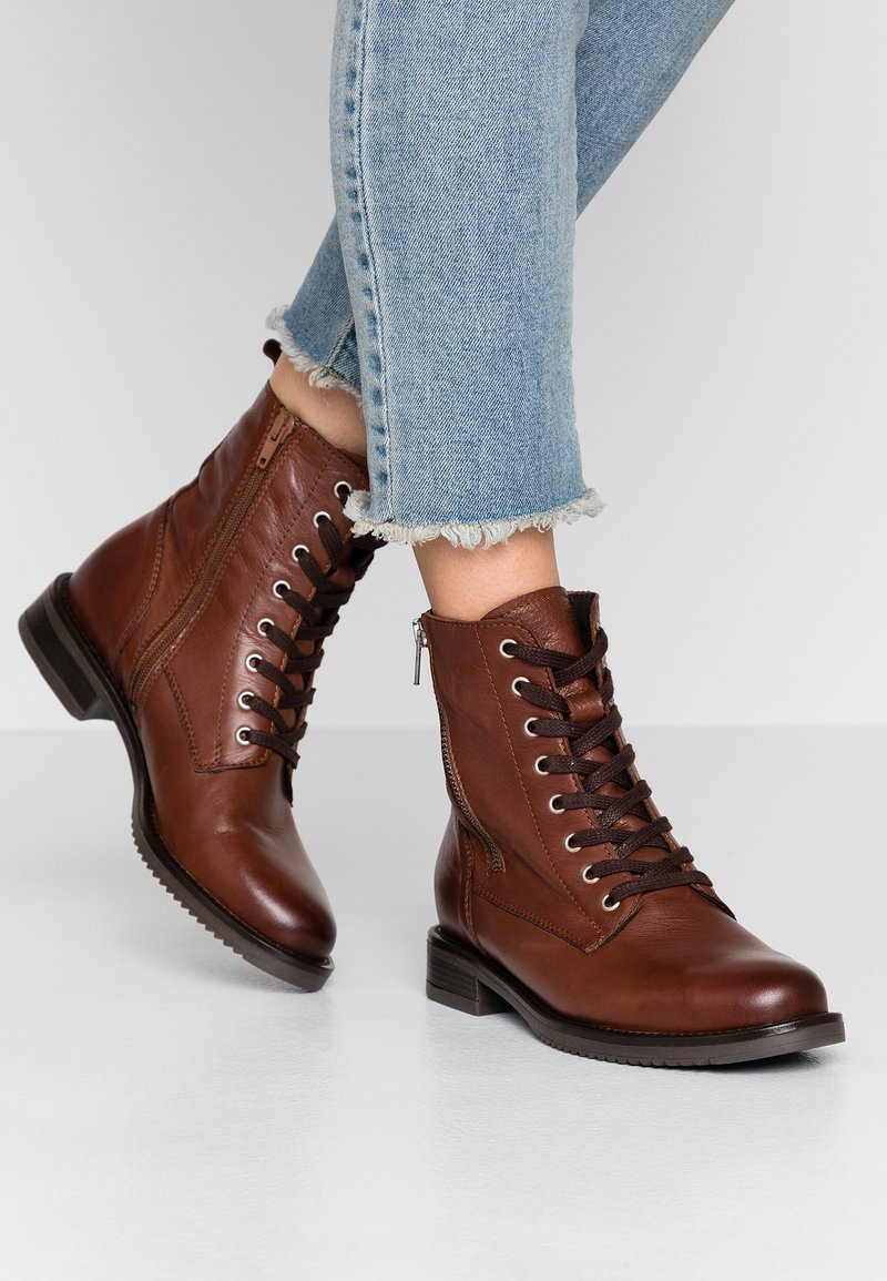 mint&berry - Lace-up ankle boots - brown
