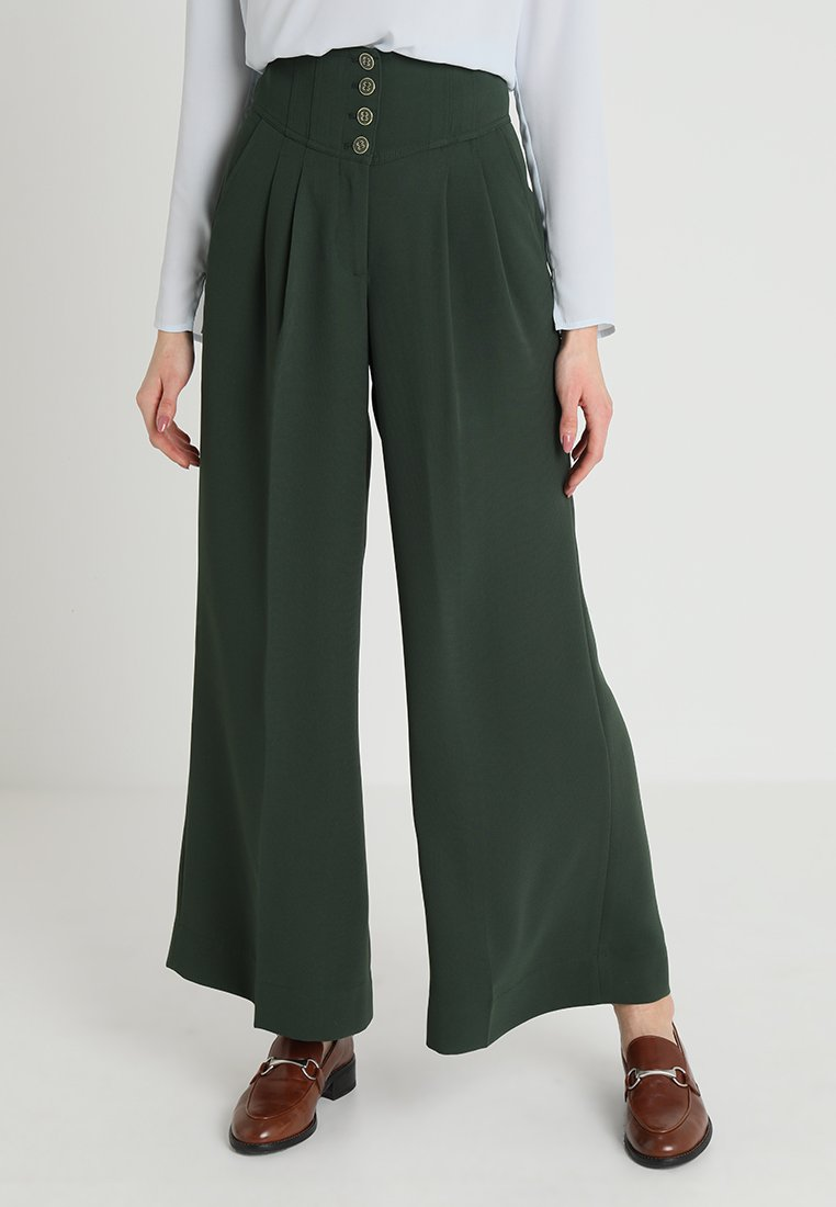 mint&berry - Stoffhose - evergreen