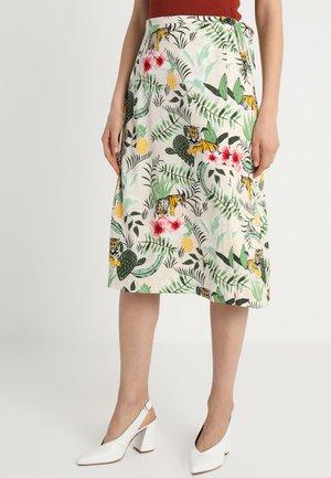 A-line skirt - green/multicoloured