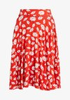 A-line skirt - white/red