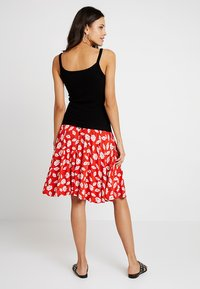 mint&berry - A-line skirt - white/red - 2