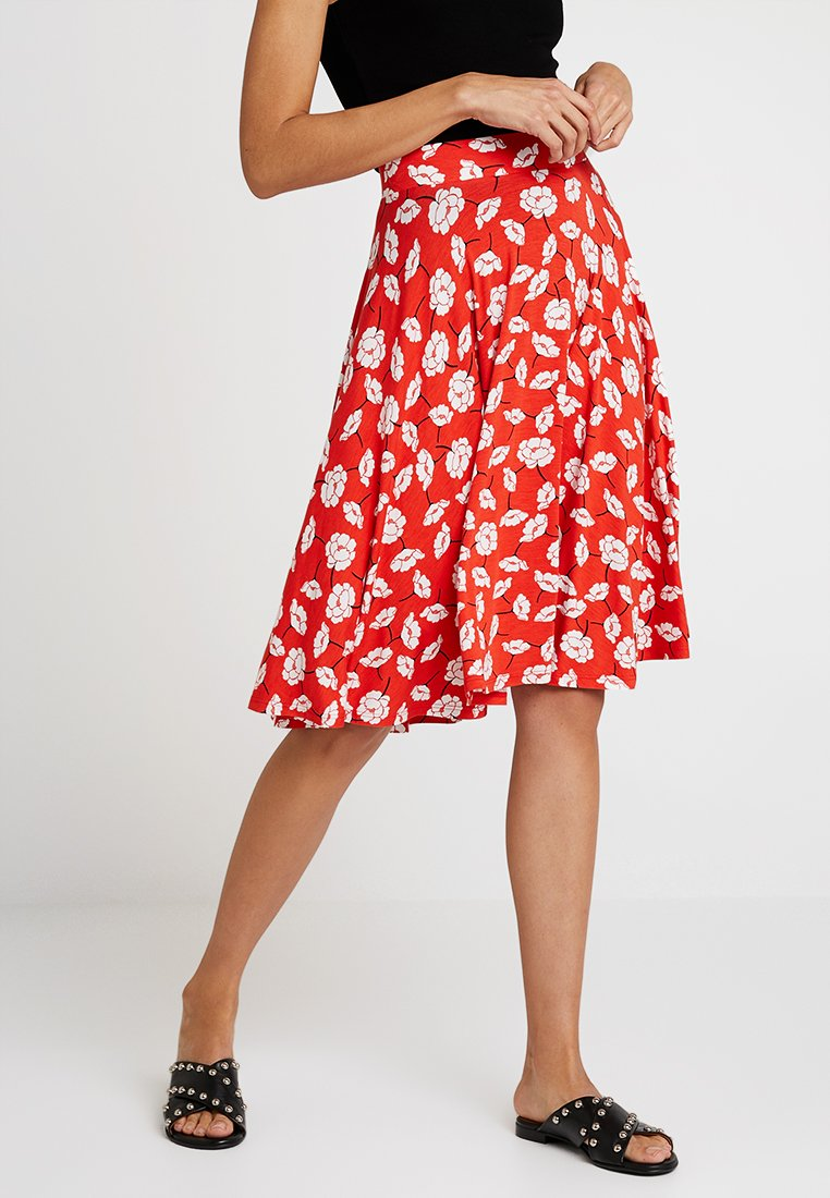 mint&berry - A-line skirt - white/red