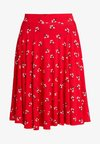 A-line skirt - red/green