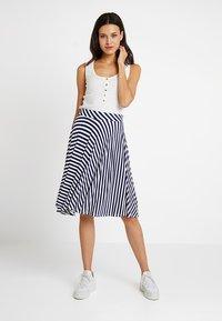 mint&berry - A-line skirt - maritime blue - 1