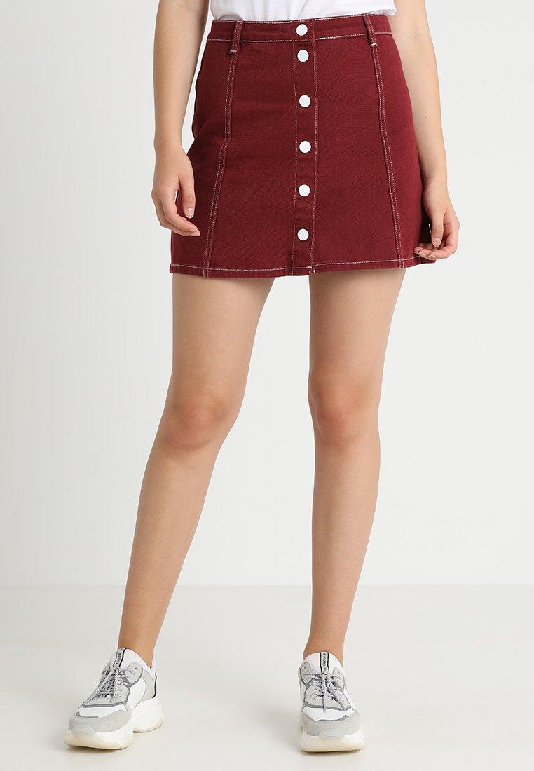 mint&berry - A-line skirt - burgundy