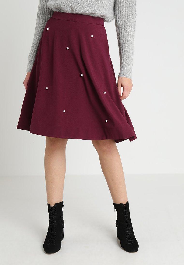 mint&berry - Áčková sukně - windsor wine