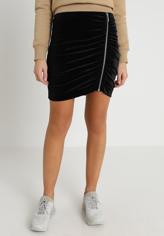 Mini skirt - schwarz