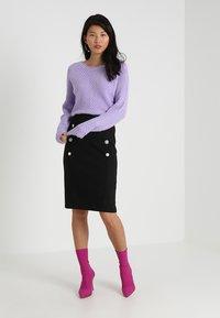 mint&berry - Pouzdrová sukně - black - 1