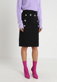 mint&berry - Pouzdrová sukně - black - 0