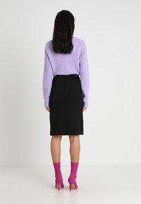 mint&berry - Pouzdrová sukně - black - 2