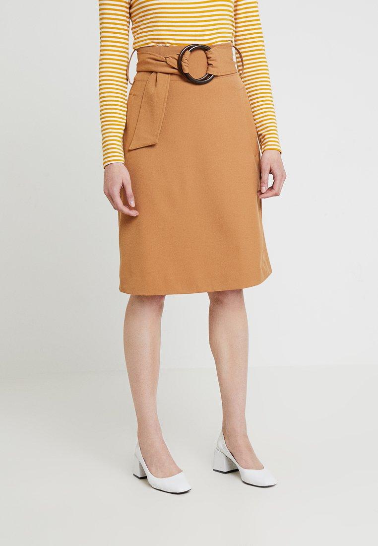 mint&berry - Pencil skirt - light brown