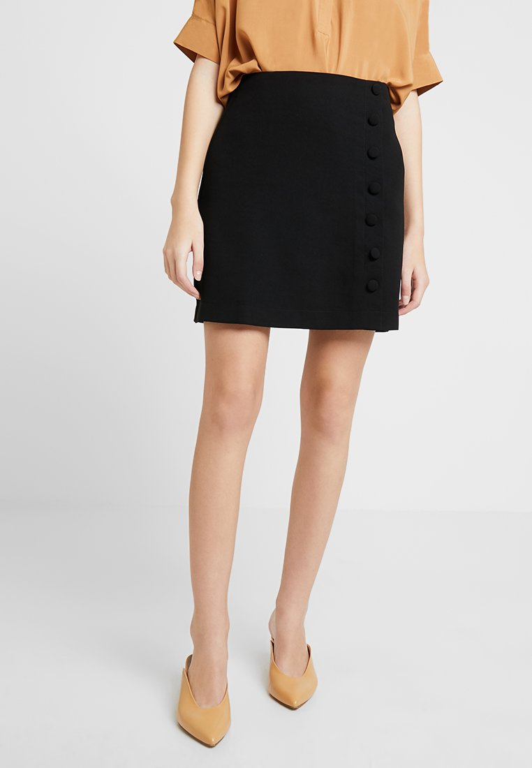 mint&berry - Áčková sukně - black