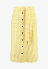 mint&berry - SKIRT WITH BUTTON LEDGE - A-line skirt - yellow/white - 3