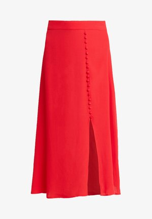 SKIRT - A-line skirt - chinese red