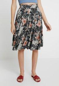 mint&berry - A-line skirt - white/black - 0