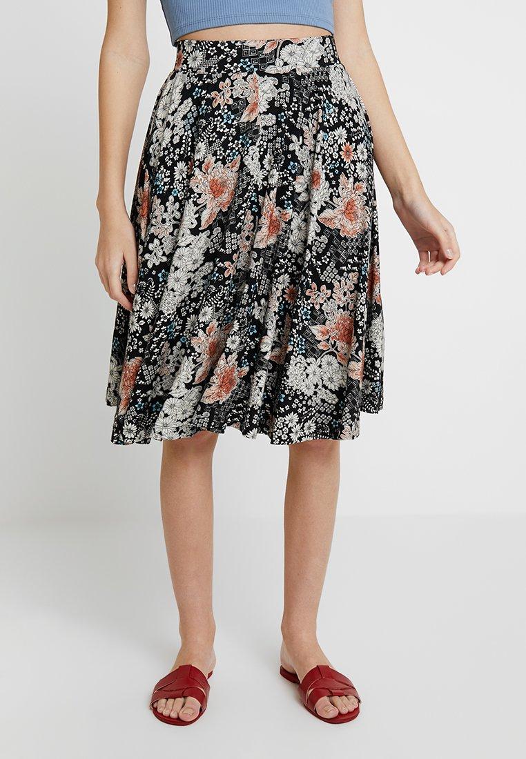 mint&berry - A-line skirt - white/black